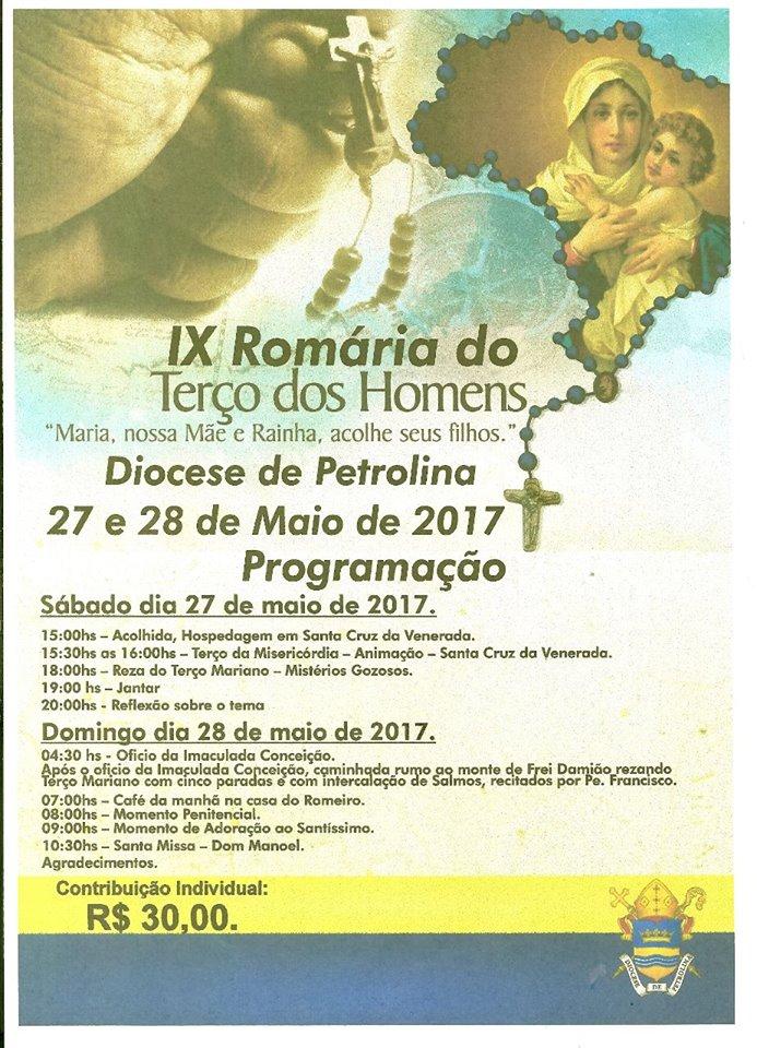 IX ROMARIA DIOCESANA DO TERÇO DOS HOMENS