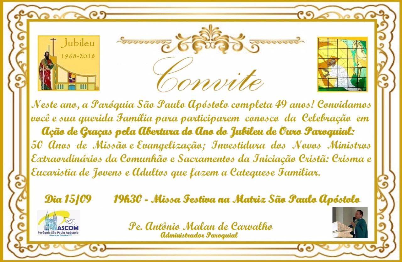 Abertura do Jubileu da Paróquia São Paulo Apóstolo